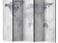 Paraván - Concrete Map [Room Dividers]